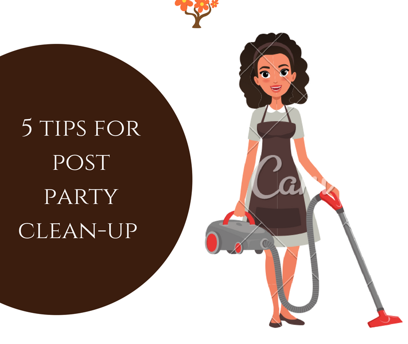 5 Tips for Post Party Clean-Up!