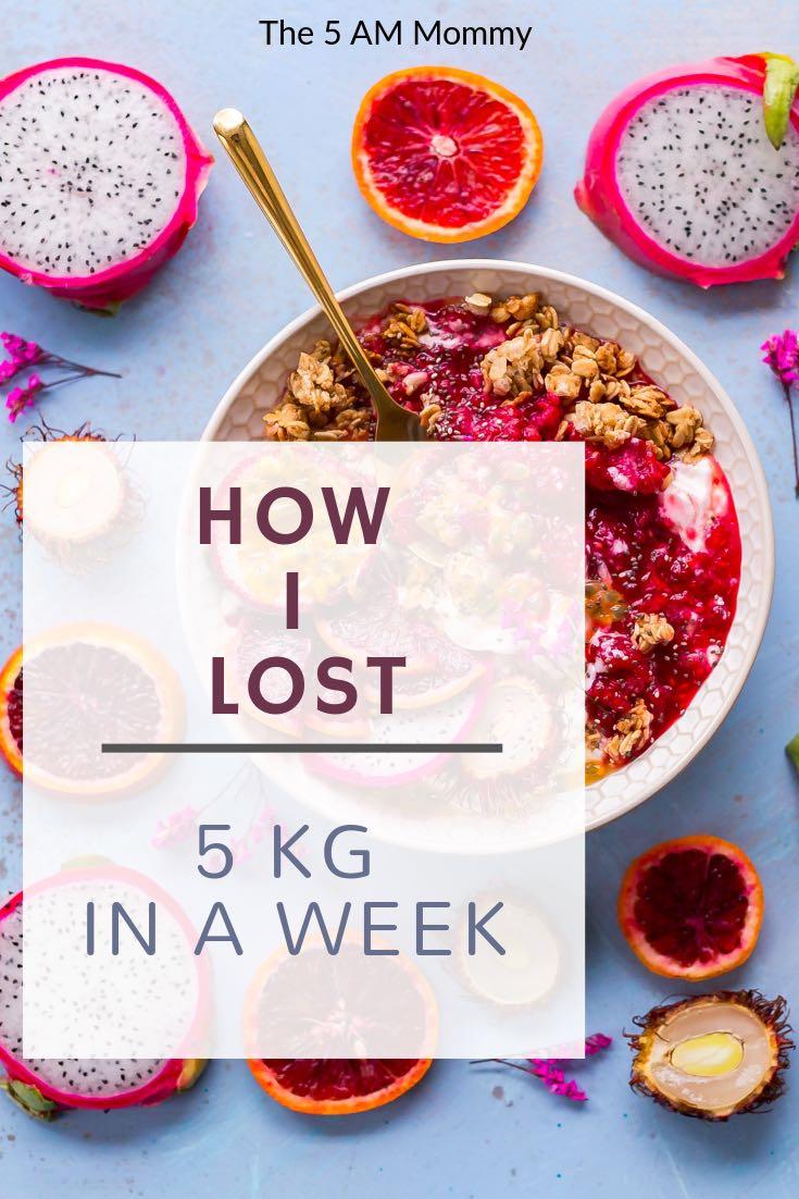 How to lose 5 kg per week