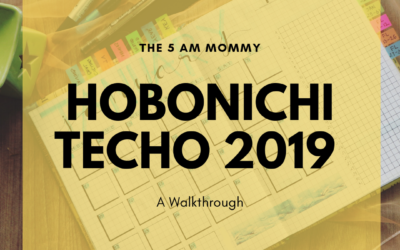 Hobonichi Techo 2019 – Walk Through