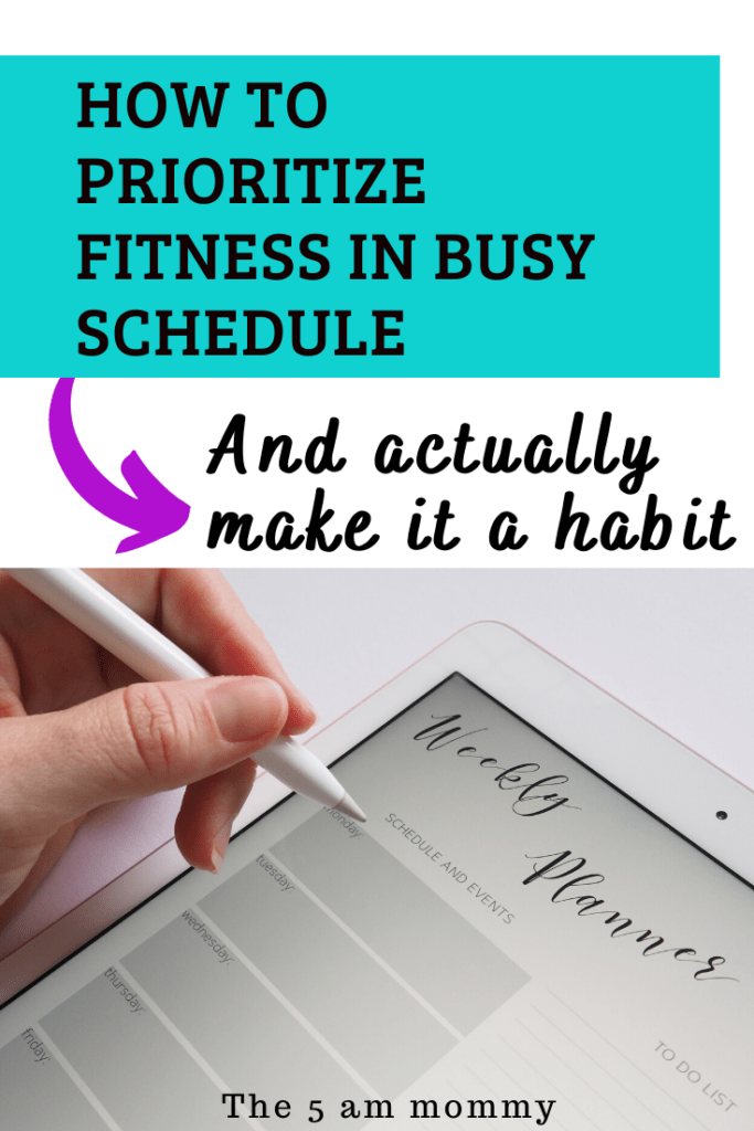 Integrate Fitness in your schedule