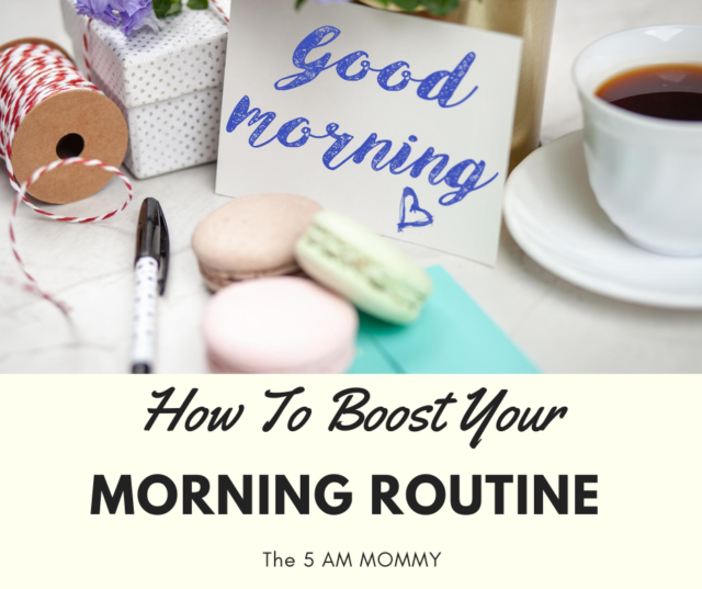 Boost Morning routine